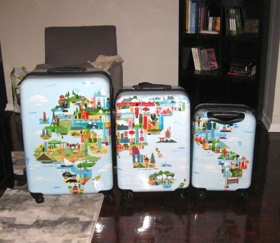 New suitcases